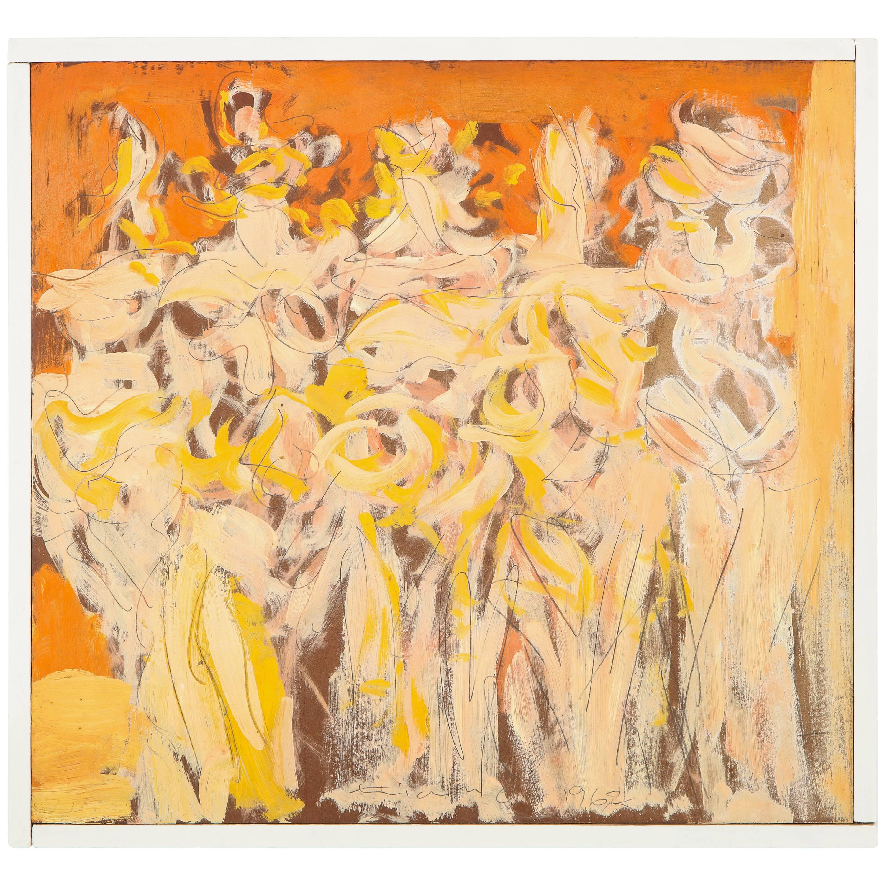Oil Painting 'Lysistrata' by Anthony Triano Signed and Dated, 1962