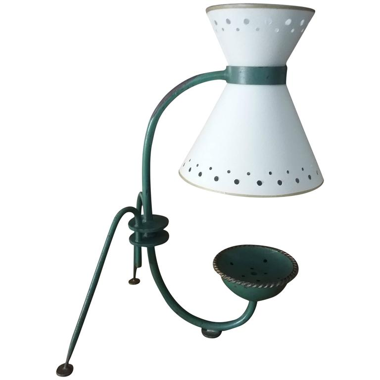 1950s Lunel Wrought Iron Table Lamp, Documentation 1953 France