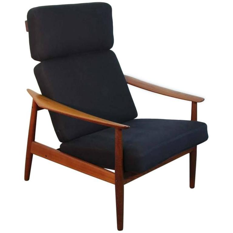 Arne Vodder FD-164 Reclining Lounge Chair, France and Son