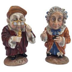 Pair of Italian Porcelain Figures Grotesque Dwarves by Doccia Ginori circa 1840