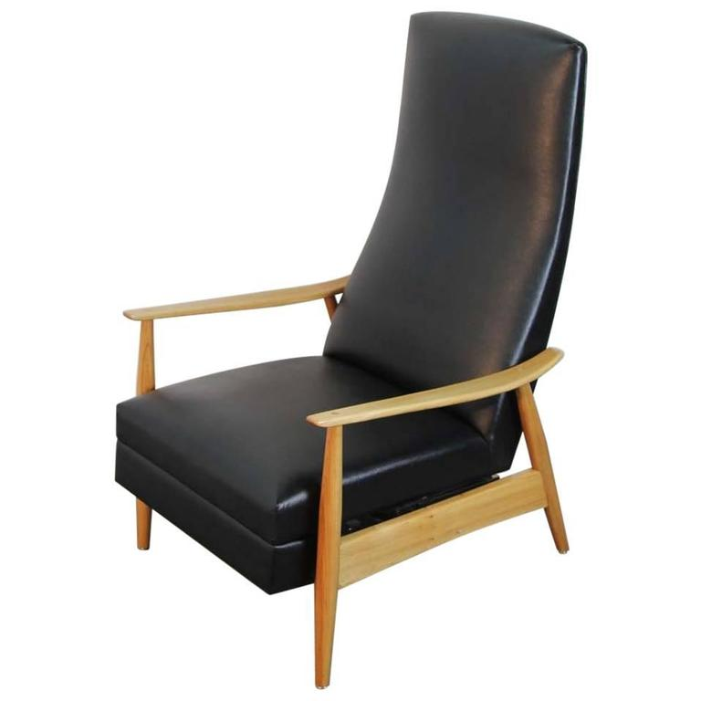 Early Milo Baughman Highback Recliner for James Inc