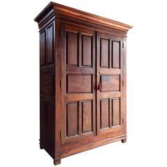 Hall Cupboard Cabinet Wardrobe Solid Teak Antique Style