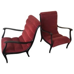Mitzi Lounge Chairs by Ezio Longhi for Elam