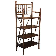 19th Century English Bamboo Bookstand