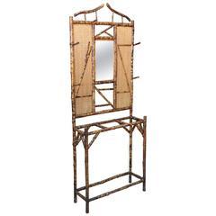 English Bamboo Hall-Stand