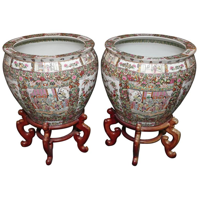 Pair Of Enormous Fish Bowls On Stands For Sale At 1stdibs