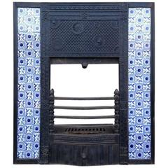 Rare Anglo-Japanese Cast Iron Fire Insert Designed by Thomas Jeckyll