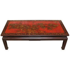 French Chinoiserie Style Cocktail Table in Lacquer