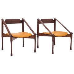distinctive pair of armchairs by claudio salocchi 1960 - First Dibs Home Decor