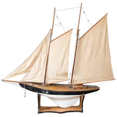 "Vintage Schooner Model Sail Boat ""Patsy-Ann"""