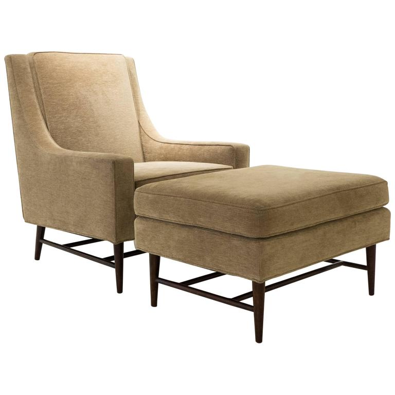 Harvey Probber Lounge Chair with Ottoman For Sale