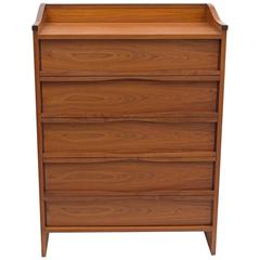 George Nakashima Walnut Tall Chest of Drawers for Widdicomb, USA, 1960s
