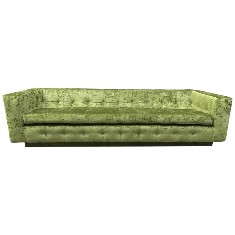 Custom Tufted Green Velvet Sofa Flavor Custom Design
