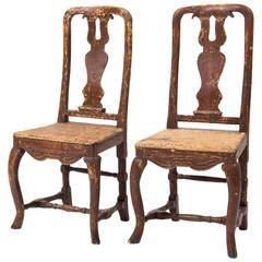 18th Century, Swedish Baroque Chairs