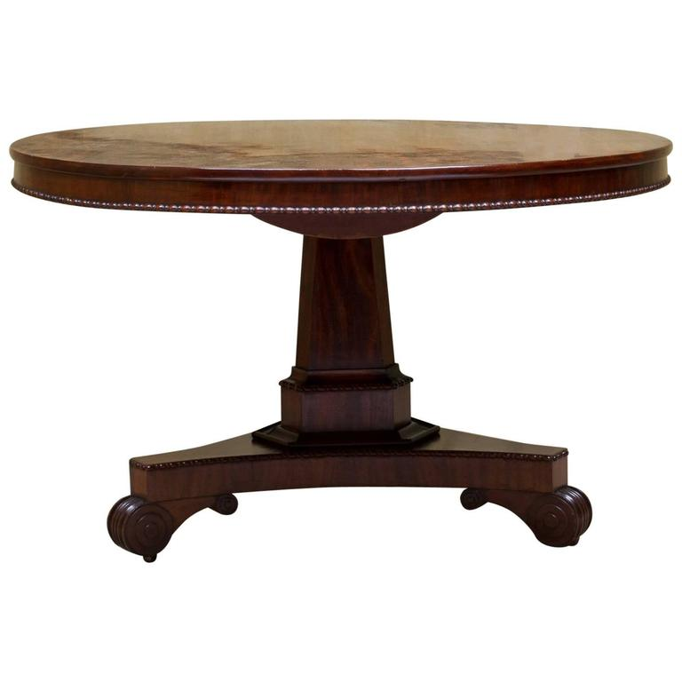 19th century english regency mahogany center table at 1stdibs for Table th center text