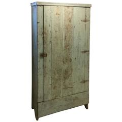 American Blue Painted Cabinet, circa 1880