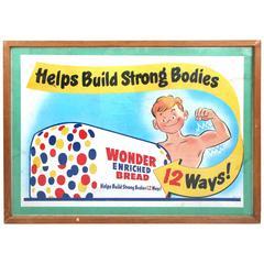 Vintage Framed Wonderbread Advertising Poster