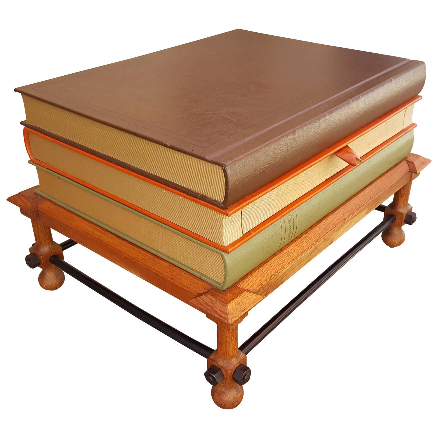 John Dickinson Stacked Books End Table For Sale at 1stdibs