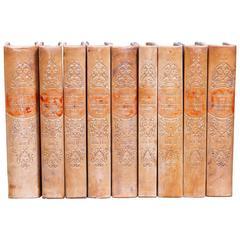 Set of Swedish Leather Bound Books
