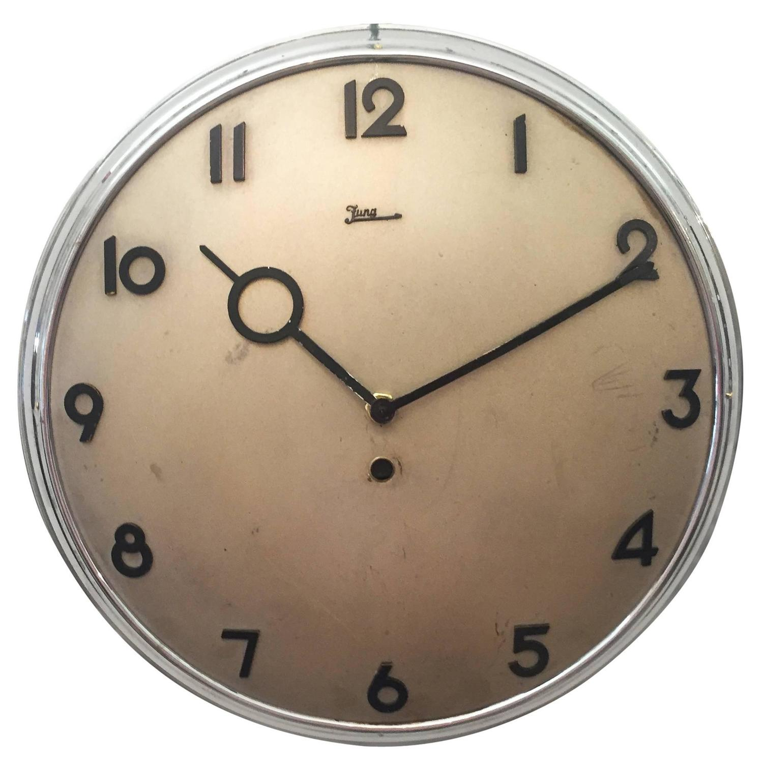 Junghans bauhaus wall clock from the 1930s for sale at 1stdibs amipublicfo Images