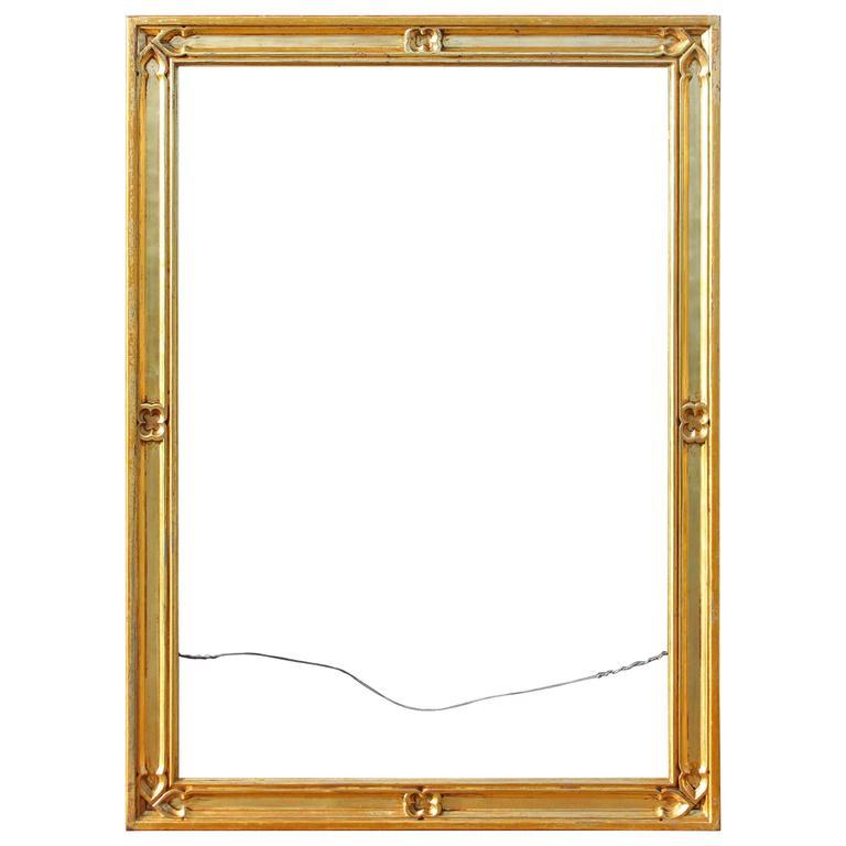 Gold Gilt Gothic Revival Frame For Sale