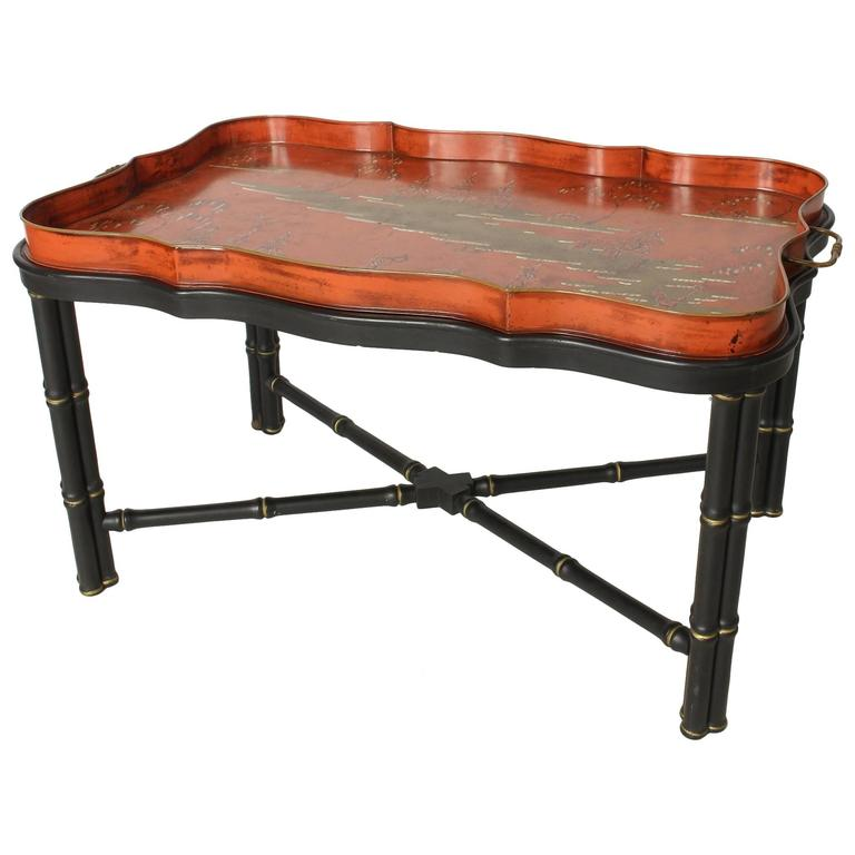Italian Tole Tray Cocktail Table For Sale At 1stdibs