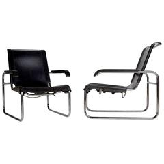 Pair of Thonet B35 Lounge Chairs by Marcel Breuer, circa 1960