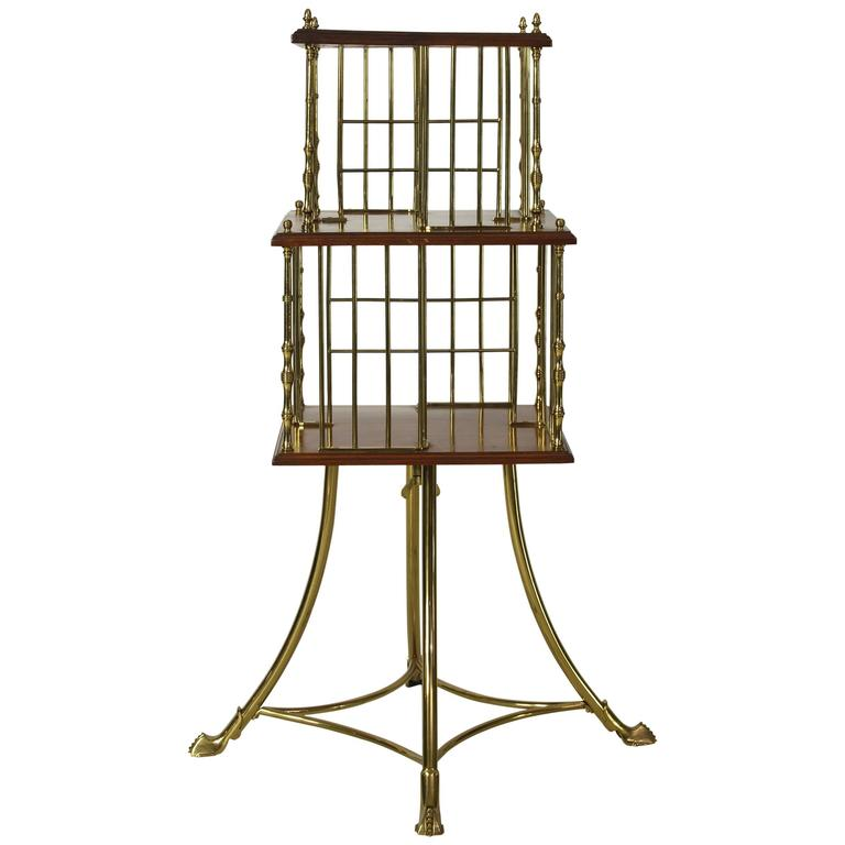 Edwardian Revolving Bookstand For Sale