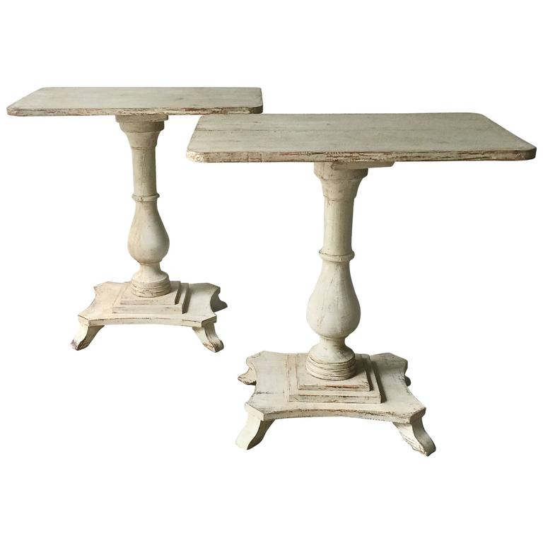 Pair of Swedish Period Karl Johan Pedestals For Sale