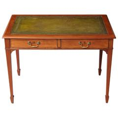 French Neoclassical Style Walnut Leather Top Desk