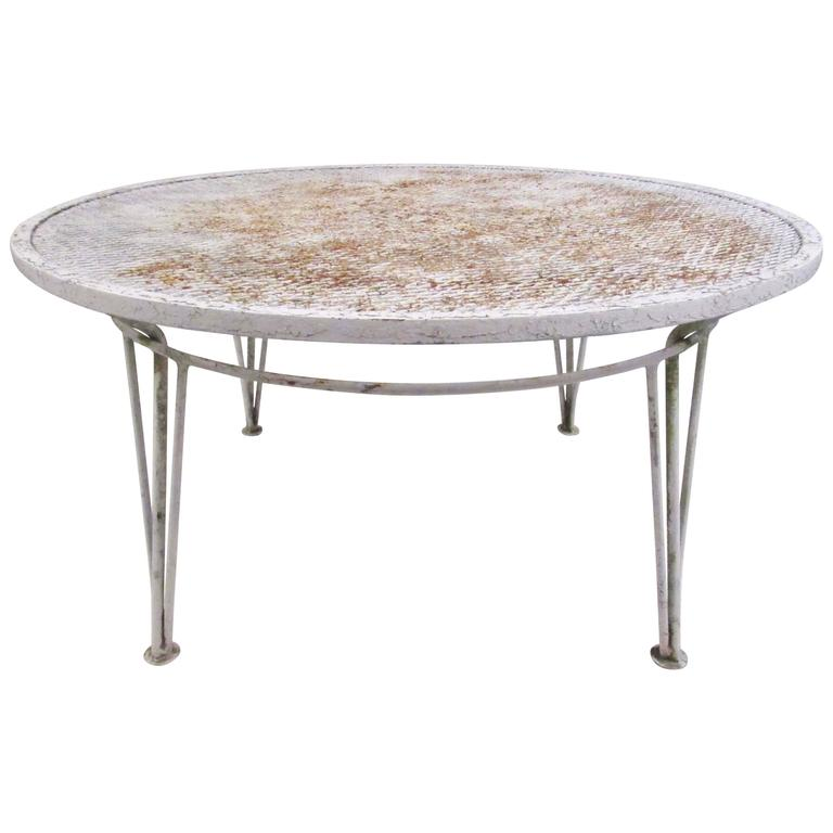 Mid century modern salterini style patio coffee table for for Modern coffee table for sale