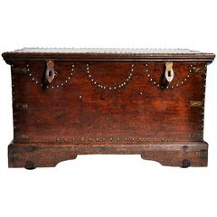British Colonial Trunk with Nail Head Decoration