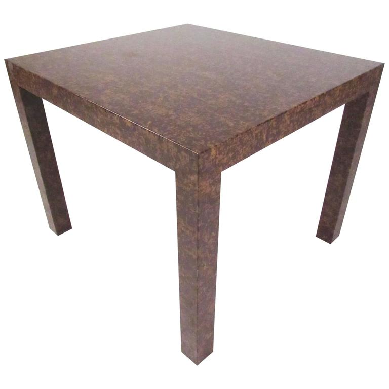 Edward Wormley Style Parsons Side Table