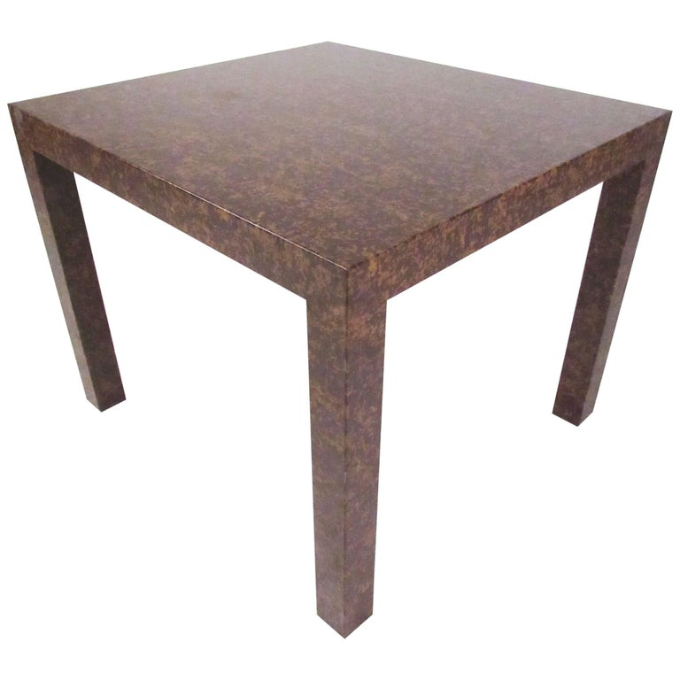 Edward Wormley Style Parsons Side Table For Sale