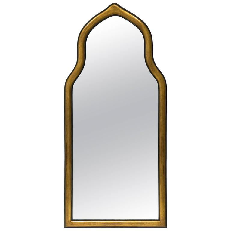Gilt Gesso Arched Pier Mirror For Sale