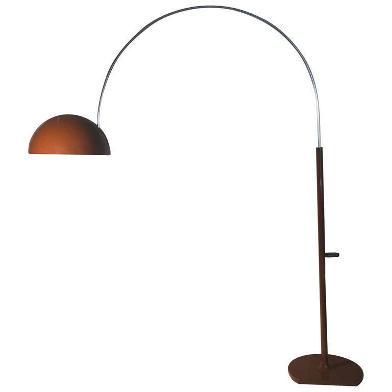 Rare Vintage Original Joe Colombo Coupe Arc Floor Lamp for Oluce For ...