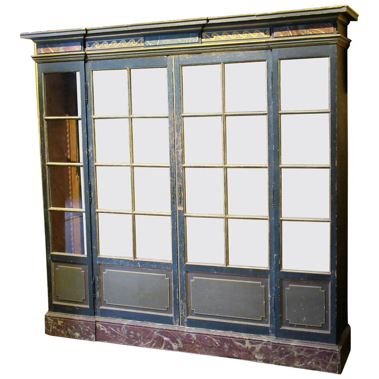 antique italian bibliotheque cabinet for sale at 1stdibs. Black Bedroom Furniture Sets. Home Design Ideas