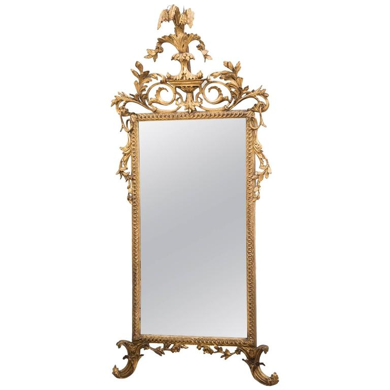 Italian Neoclassical Giltwood Pier Mirror