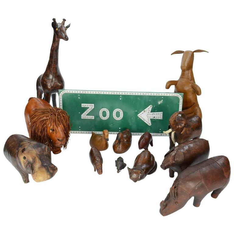 14-Piece Zoo by Dimitri Omersa for Abercrombie & Fitch For Sale