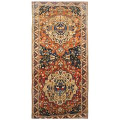 Antique Northwest Persian Oriental Rug, in Gallery Size, with Dual Medallions