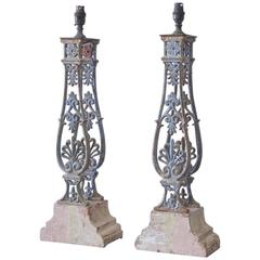 Fine Pair of 19th Century Baluster Table Lamps