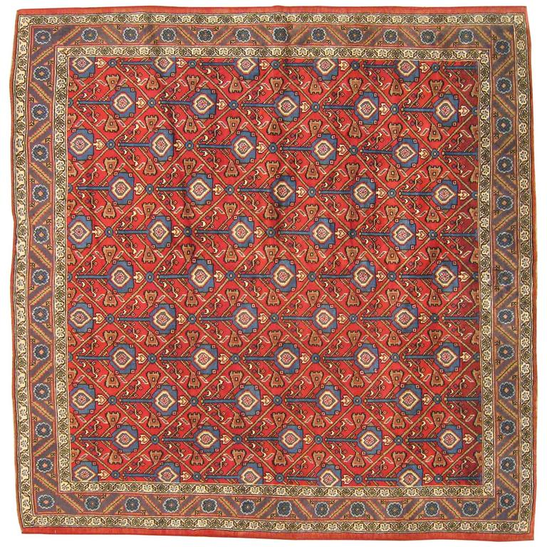 Vintage Northwest Persian Oriental Rug In Square Size