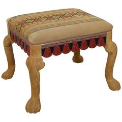 Whimsical Painted Swedish Footstool