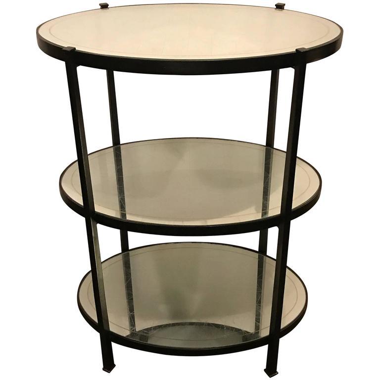 Jonathan Charles Three-Tier Eqlomise Side Table Standing Bar