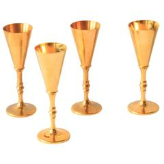 Rare Set of Four Flutes by Pierre Forsell