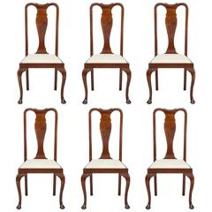 Set of Six Mahogany Dining Chairs