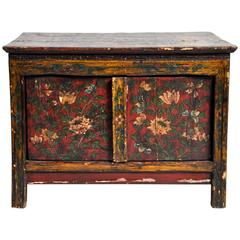 Tibetan Hand-Painted Low Cabinet