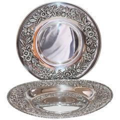 S.Kirk & Son Sterling Silver Serving Platter and Serving Bowl