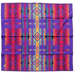 Amazing Colorful Vintage Pendleton Indian Design Camp Blanket