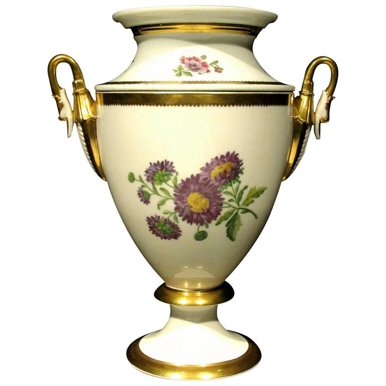 Neoclassical Inspired Hand-Painted French Porcelain Wine Cooler